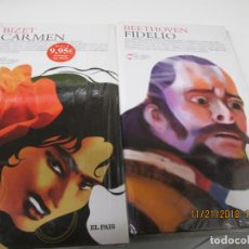 Libretos de ópera: BIZET CARMEN/ BEETHOVEN FIDELIO - EL PAIS LIBRETOS DE OPERA + DVD - EMBALAJE ORIGINAL NUEVO. Lote 142200566