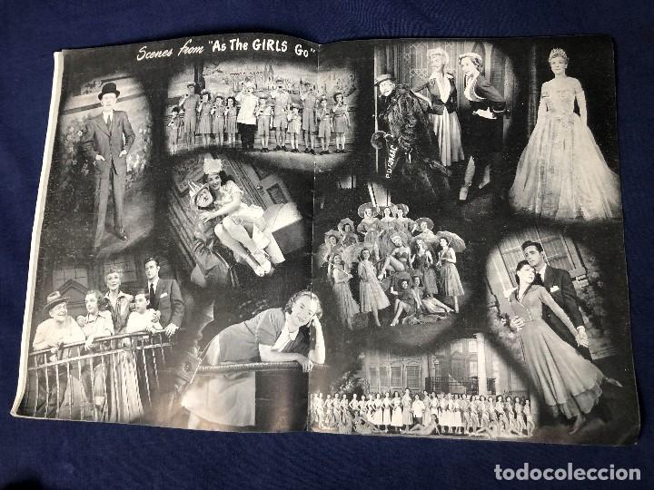 Libretos de ópera: LIBRETO FOLLETO MUSICAL COMEDIA AS THE GIRLS GO BOBBY CLARK MICHAEL TODD NEW YORK AÑOS 50 30,5X23CMS - Foto 5 - 145596154
