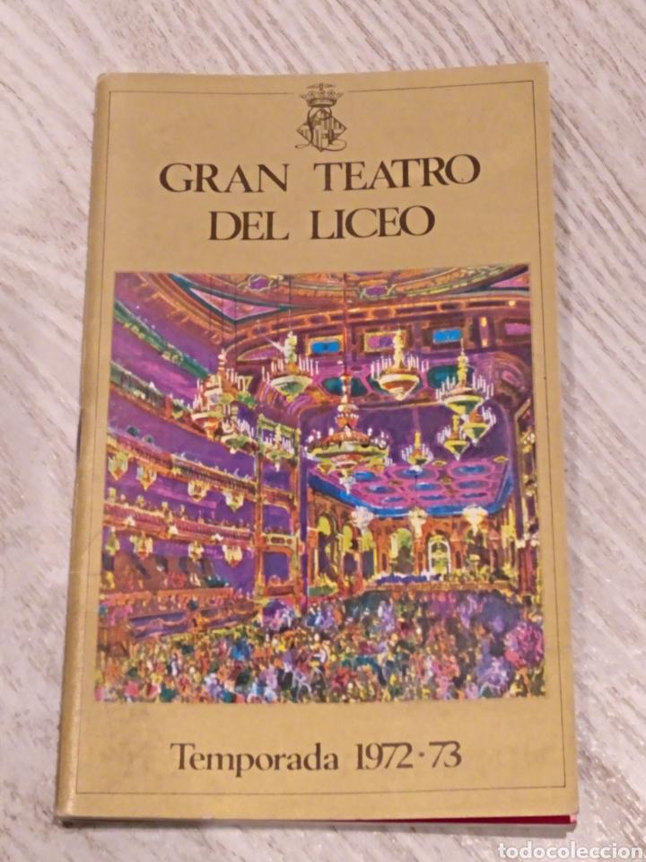 PROGRAMA GRAN TEATRO DEL LICEO TANNHAUSER 1972-73 (Música - Libretos de Opera)