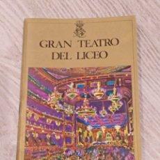 Libretos de ópera: PROGRAMA GRAN TEATRO DEL LICEO TANNHAUSER 1972-73. Lote 147066298