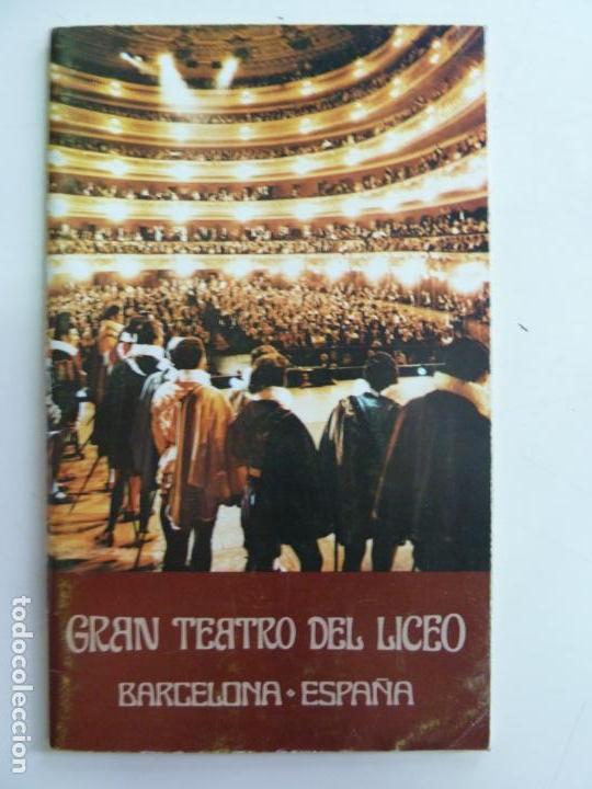 GRAN TEATRO DEL LICEO. BARCELONA. ESPAÑA. TEMPORADA ÓPERA 1979-80 (Música - Libretos de Opera)