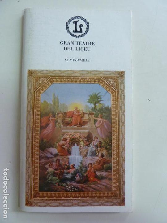 GRAN TEATRE DEL LICEU SEMIRAMIDE. TEMPORADA 1985/86 (Música - Libretos de Opera)