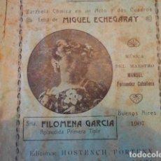 Libretos de ópera: LOTE DE DOS LIBRETOS DE ZARZUELA CÓMICA, 1906 Y 1907. Lote 147623902