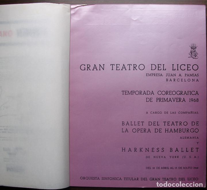 Libretos de ópera: CATALOGO GRAN TEATRO DEL LICEO: FESTIVAL DE BALLET 1968 - Foto 2 - 147756242