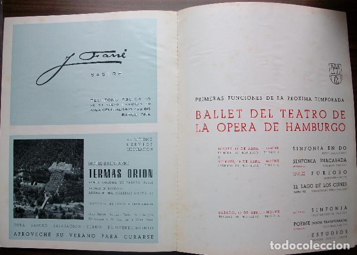 Libretos de ópera: CATALOGO GRAN TEATRO DEL LICEO: FESTIVAL DE BALLET 1968 - Foto 7 - 147756242