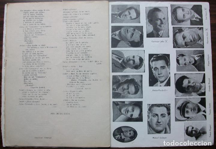 Libretos de ópera: LUISA FERNANDA. ZARZUELA EN TRES ACTOS Y TRES CUADROS. MUSICA FEDERICO MORENO TORROBA. 1932 - Foto 3 - 147759514