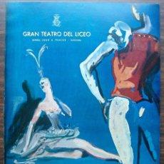 Libretos de ópera: GRAN TEATRO DEL LICEO. BALLET DE BELGRADO. TEMPORADA DE PRIMAVERA 1965. Lote 147760946