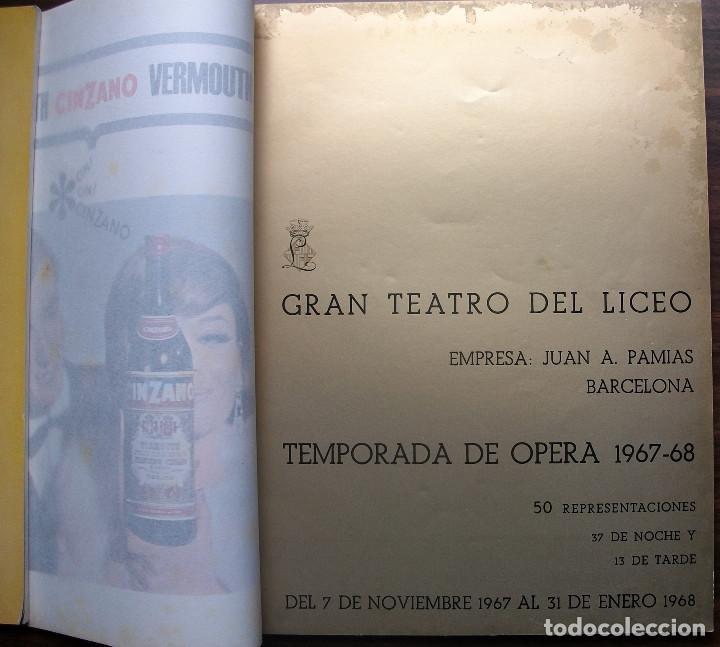 Libretos de ópera: GRAN TEATRO DEL LICEO. TEMPORADA DE OPERA 1967-68 - Foto 2 - 147762222