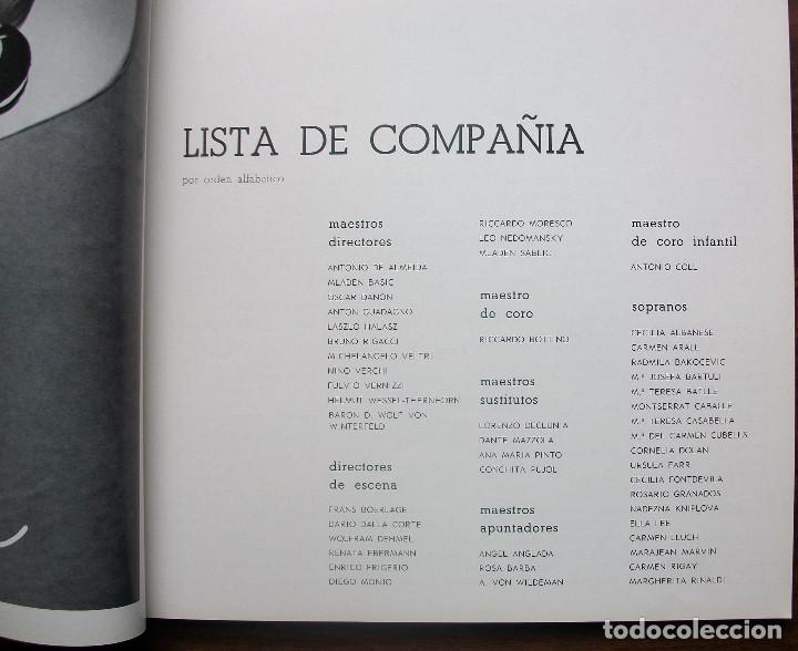 Libretos de ópera: GRAN TEATRO DEL LICEO. TEMPORADA DE OPERA 1967-68 - Foto 3 - 147762222