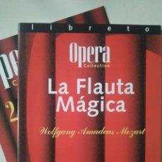 Libretos de ópera: LIBRETO DE LA FLAUTA MÁGICA, MOZART. Lote 148197210