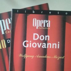 Libretos de ópera: LIBRETO DE DON GIOVANNI, MOZART. Lote 148197490