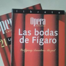 Libretos de ópera: LIBRETO DE LAS BODAS DE FÍGARO, MOZART. Lote 148197606