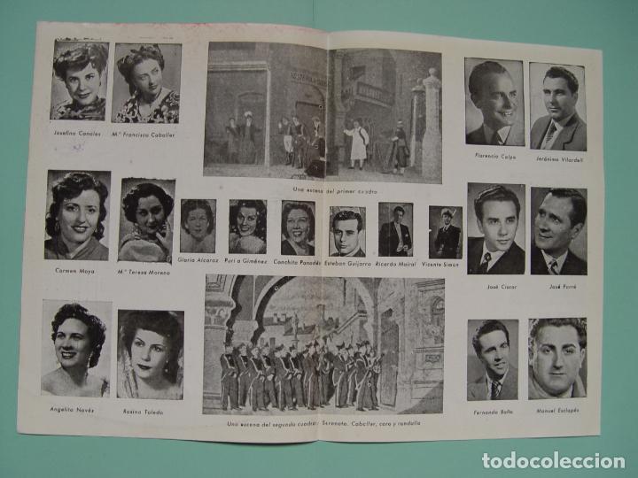 Libretos de ópera: Folleto libreto: Zarzuela LA CANCIÓN DEL OLVIDO (Madrid, 1950's). Original. Coleccionista. ¡Raro! - Foto 5 - 148431822
