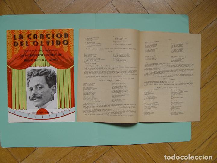 Libretos de ópera: Folleto libreto: Zarzuela LA CANCIÓN DEL OLVIDO (Madrid, 1950's). Original. Coleccionista. ¡Raro! - Foto 6 - 148431822