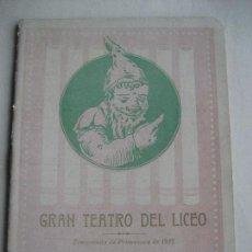 Libretos de ópera: ÓPERA. GRAN TEATRO DEL LICEO. 1912. IL TROVATORE DE VERDI. Lote 154979318