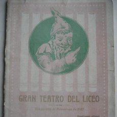 Libretos de ópera: ÓPERA. GRAN TEATRO DEL LICEO. TEMPORADA 1912. CARMEN DE BIZET. Lote 154984794