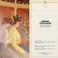 Libretos de ópera: PROGRAMA LICEU BARCELONA. TEMP- 1981/82. FIRMADO POR M.CABALLÉ, F.COSSOTTO, E.SERRA.. Lote 155453682