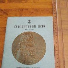 Libretos de ópera: REVISTA GRAN TEATRE DEL LICEO GENER 1956 WOLFGANG A. MOZART. Lote 156533218