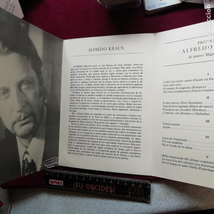 ALFREDO KRAUS. PROGRAMA. VALENCIA 1979. ASOCIACIÓN PRO-SUBNORMALES (Música - Libretos de Opera)