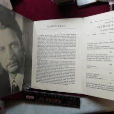 Libretos de ópera: ALFREDO KRAUS. PROGRAMA. VALENCIA 1979. ASOCIACIÓN PRO-SUBNORMALES. Lote 158117726