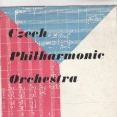 Livrets d'opéra: PROGRAMA CZECH PHILHARMONIC ORCHESTRA CONDUCTOR KAREL ANCER. OCTUBRE 1956. Lote 158828026