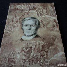 Libretos de ópera: GRAN TEATRO DEL LICEO 1951 BORIS GODUNOV. Lote 159756230