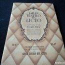 Libretos de ópera: GRAN TEATRO DEL LICEO 1947 TZAR SALTAN ANIVERSARIO DEL CENTENARIO DEL LICEO. Lote 159756622