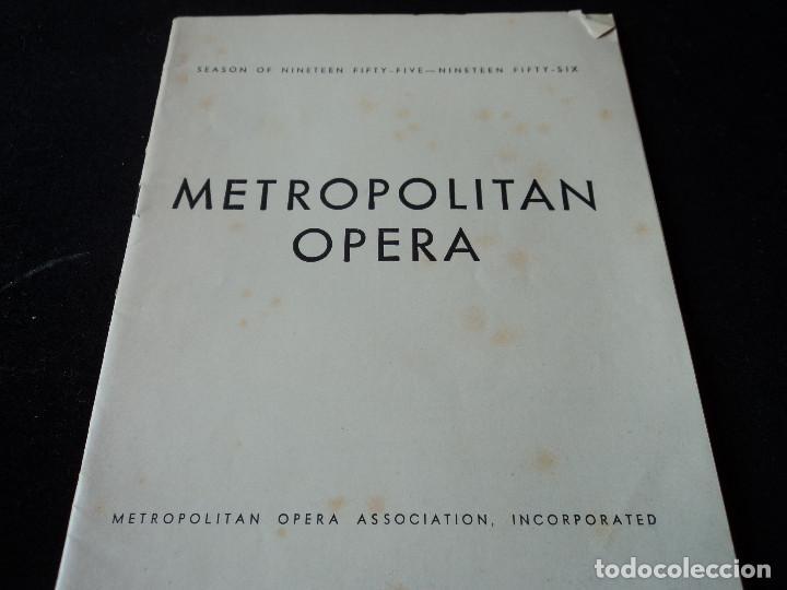 METROPOLITAN OPERA NEW YORK TOSCA RENATA TEBALDI 1955 (Música - Libretos de Opera)
