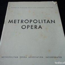 Libretos de ópera: METROPOLITAN OPERA NEW YORK TOSCA RENATA TEBALDI 1955. Lote 159757882
