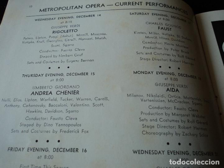 Libretos de ópera: METROPOLITAN OPERA NEW YORK TOSCA RENATA TEBALDI 1955 - Foto 8 - 159757882