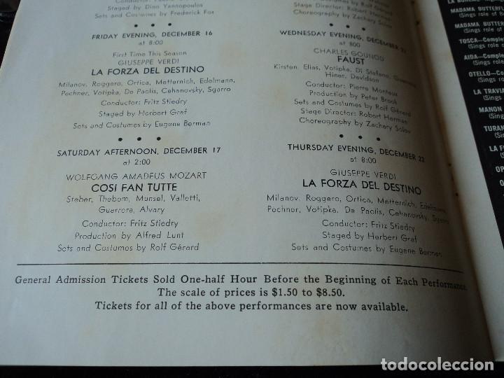 Libretos de ópera: METROPOLITAN OPERA NEW YORK TOSCA RENATA TEBALDI 1955 - Foto 9 - 159757882