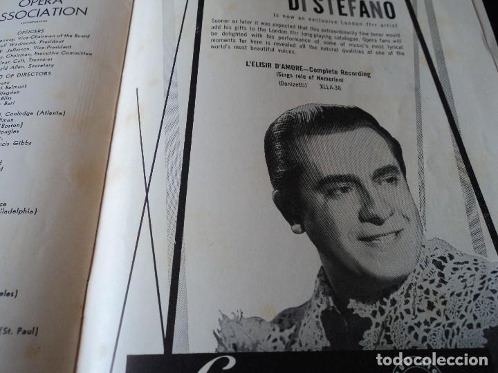 Libretos de ópera: METROPOLITAN OPERA NEW YORK TOSCA RENATA TEBALDI 1955 - Foto 15 - 159757882