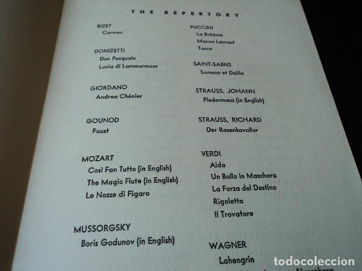 Libretos de ópera: METROPOLITAN OPERA NEW YORK PROGAMA DE ACTIVIDADES 1956 - Foto 3 - 159758090