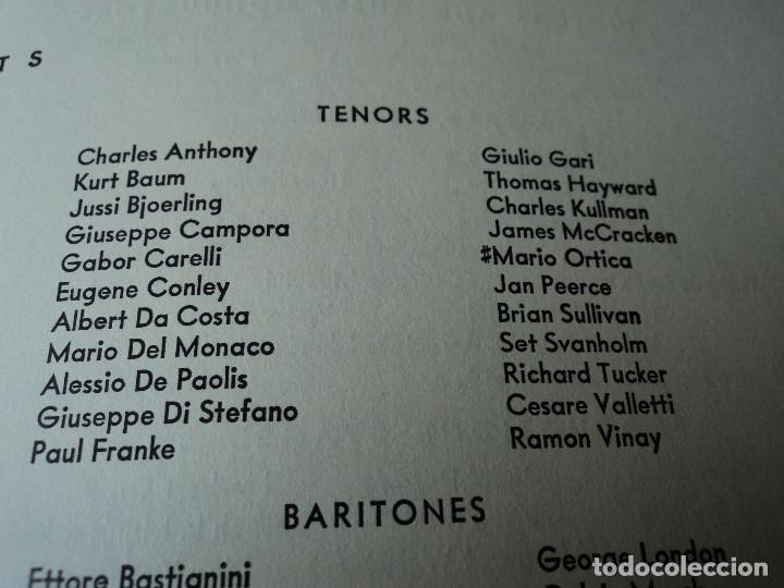 Libretos de ópera: METROPOLITAN OPERA NEW YORK PROGAMA DE ACTIVIDADES 1956 - Foto 6 - 159758090