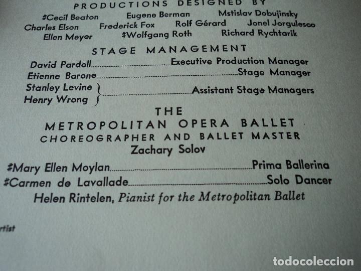 Libretos de ópera: METROPOLITAN OPERA NEW YORK PROGAMA DE ACTIVIDADES 1956 - Foto 9 - 159758090
