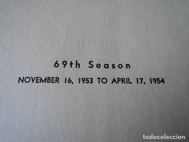 Libretos de ópera: METROPOLITAN OPERA NEW YORK PROGAMA DE ACTIVIDADES 1954 - Foto 2 - 159758546