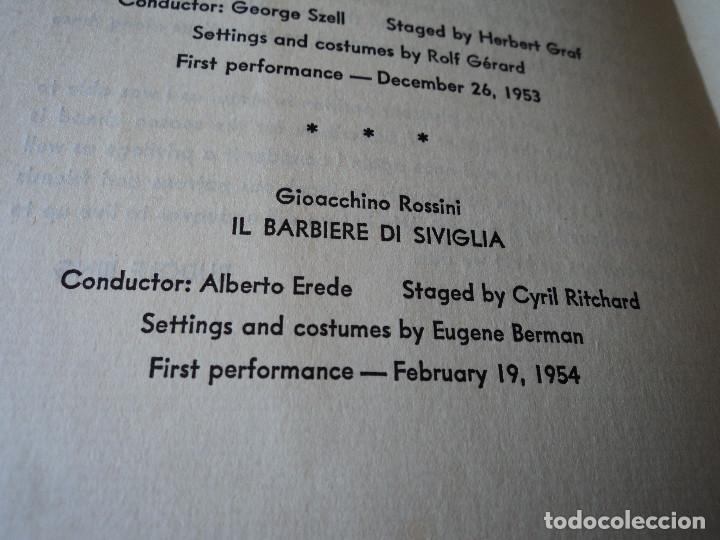 Libretos de ópera: METROPOLITAN OPERA NEW YORK PROGAMA DE ACTIVIDADES 1954 - Foto 5 - 159758546
