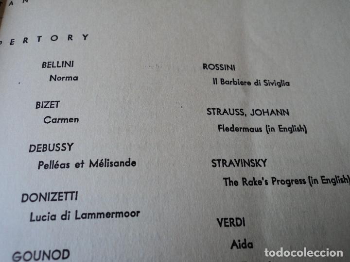 Libretos de ópera: METROPOLITAN OPERA NEW YORK PROGAMA DE ACTIVIDADES 1954 - Foto 6 - 159758546