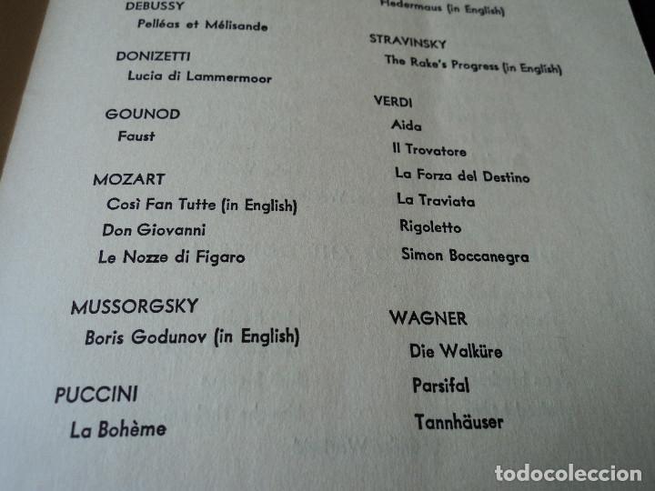 Libretos de ópera: METROPOLITAN OPERA NEW YORK PROGAMA DE ACTIVIDADES 1954 - Foto 7 - 159758546