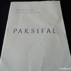 Libretos de ópera: BAYREUTHER FESTSPIELE 1953 PARSIFAL INGLES, ALEMAN Y FRANCES PARA LOS ENTUSIASTAS WAGNERIANOS, 42 PG. Lote 159759042