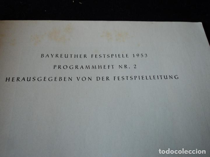 Libretos de ópera: Bayreuther Festspiele 1953 PARSIFAL ingles, aleman y frances para los entusiastas wagnerianos, 42 pg - Foto 2 - 159759042