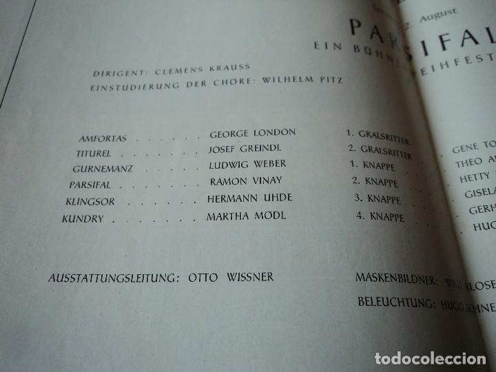 Libretos de ópera: Bayreuther Festspiele 1953 PARSIFAL ingles, aleman y frances para los entusiastas wagnerianos, 42 pg - Foto 9 - 159759042