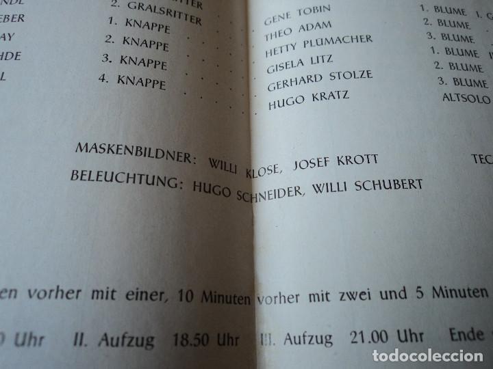 Libretos de ópera: Bayreuther Festspiele 1953 PARSIFAL ingles, aleman y frances para los entusiastas wagnerianos, 42 pg - Foto 12 - 159759042