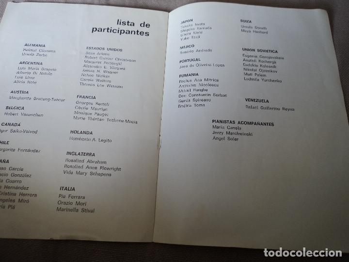 Libretos de ópera: GRAN TEATRO LICEO XII CONCURSO INTERNACIONAL DE CANTO FRANCISCO VIÑAS 1972 - Foto 3 - 163727730