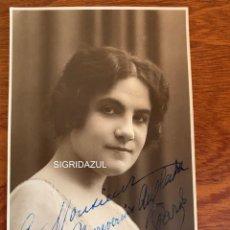 Libretos de ópera: NINON VALLIN FOTO 1919 SOPRANO OPERA FRANCESA AUTOGRAFO. Lote 165108558