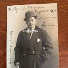 Libretos de ópera: GIUSEPPE ANSELMI FOTO 1918 TENOR OPERA ITALIANA AUTOGRAFO. Lote 165108930