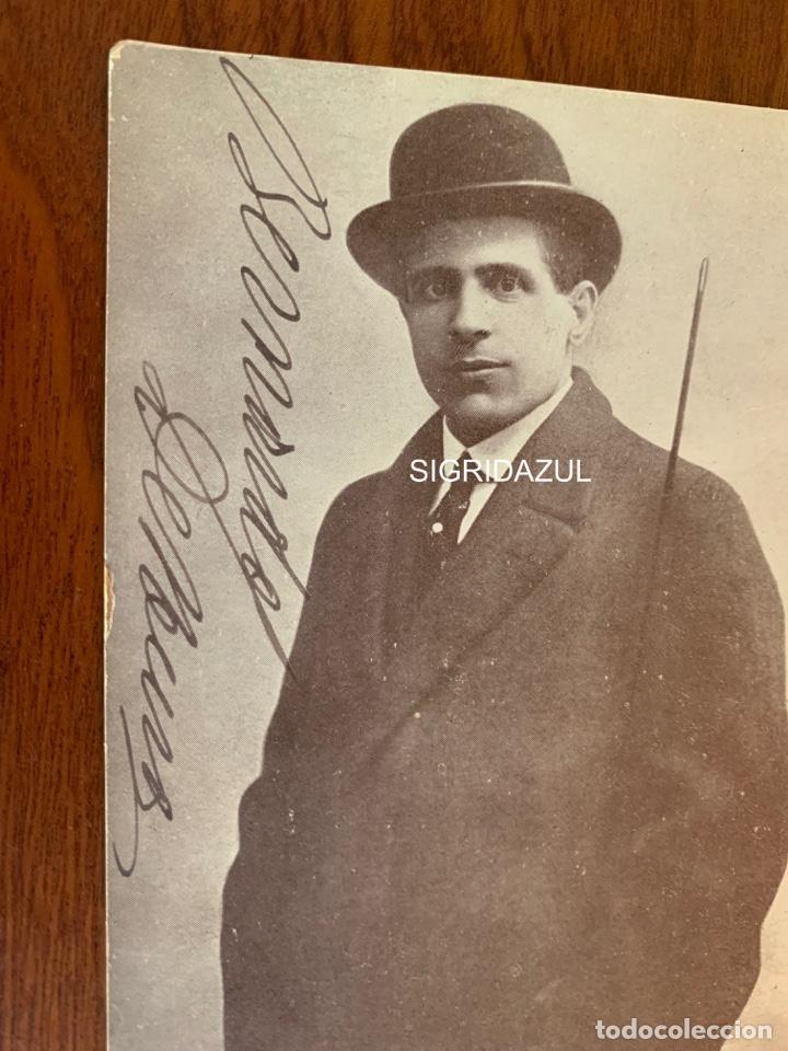 Libretos de ópera: BERNARDO DE MURO FOTO 1917 TENOR OPERA ITALIANO AUTOGRAFO - Foto 2 - 165109582