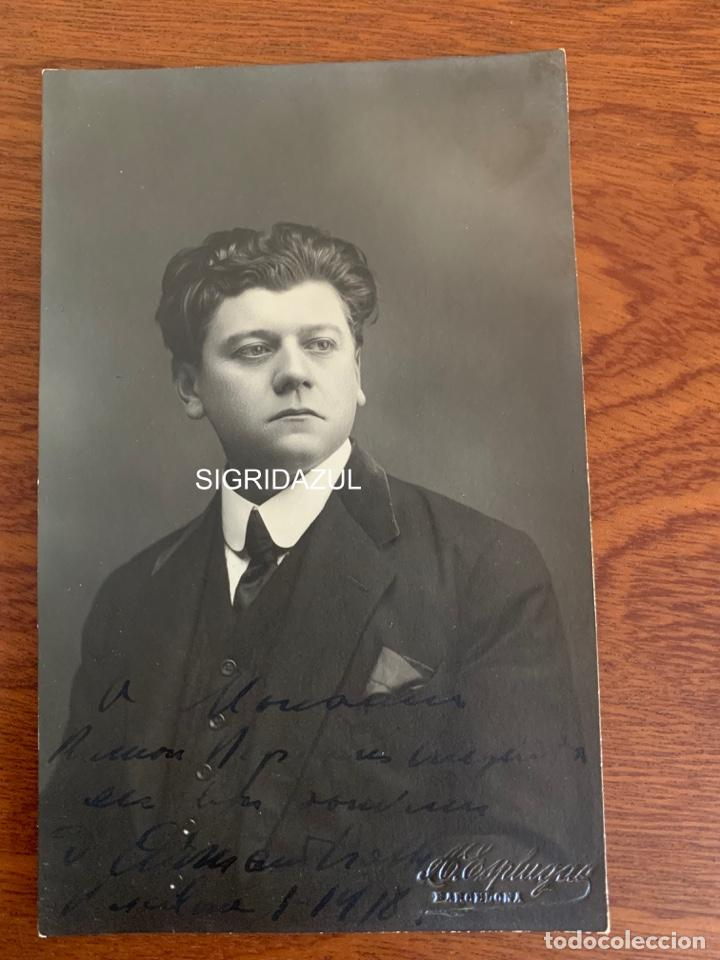 ARMAND CRABBÉ FOTO 1918 TENOR OPERA BELGA (Música - Libretos de Opera)
