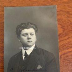 Libretos de ópera: ARMAND CRABBÉ FOTO 1918 TENOR OPERA BELGA. Lote 165110438