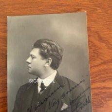 Libretos de ópera: ARMAND CRABBÉ FOTO 1918 TENOR OPERA BELGA. Lote 165110694